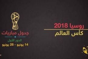 #جدول _ مباريات _الدور الأول من بطولة #كأس _العالم_ لكرة_ القدم ( روسيا 2018م ).. ويوضح الملاعب والمدن التي ستشهد المباريات المختلفة، بالإضافة إلى توقيت المباريات، وهو بحسب توقيت العاصمة الإماراتية أبوظبي.