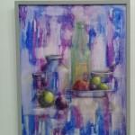 الفنان التشكيلي #نبيل_ بالحاج.. ..يقدم قراءة لإحدى لوحات الفنانة التشكيلية التونسية #فاطمة_ سامي ..