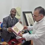 زيارة الفنان هيثم سلمو ..للحاج #عبد الرحيم_ كولين.. في أكاديمة الفنون بالدار البيضاء ..